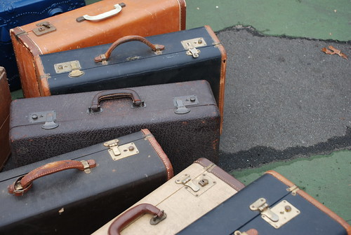 suitcases at the Brooklyn Flea | by kthread