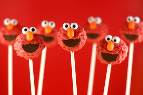 Elmo Cake Pops Photo