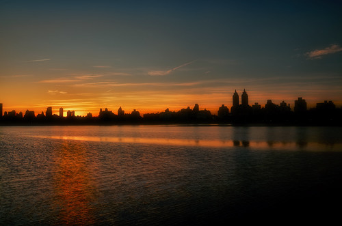 sunset over Central Park | by mudpig
