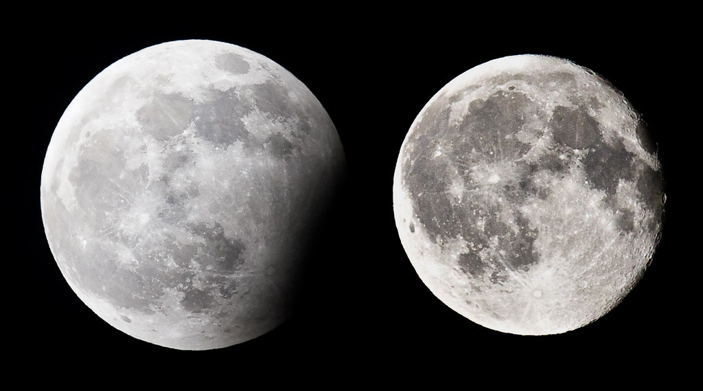Moon Size Comparison | I took a photo of the partial lunar ...