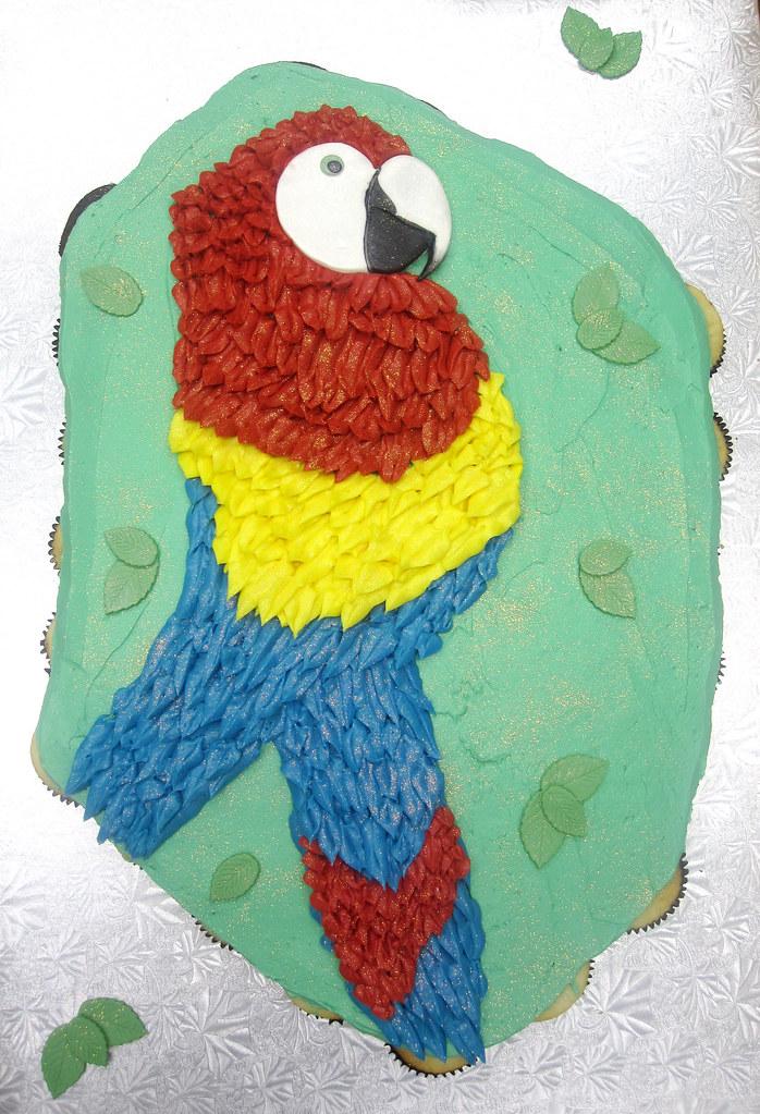 Jungle Island Parrot Pull Apart Pull Apart Cupcake Cake