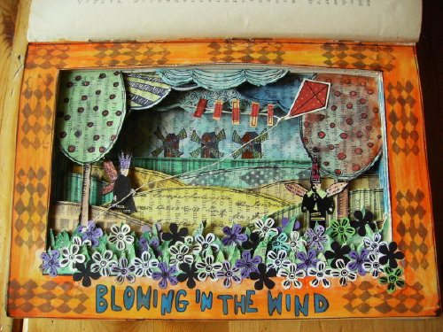 altered book blowing in the wind | by moniq75k