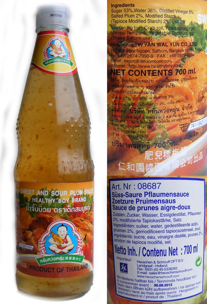 Bottle of Sweet & Sour Plum Sauce