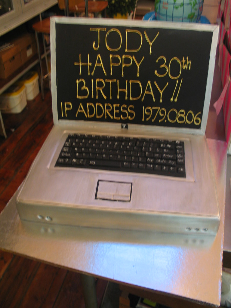 Laptop Computer Birthday Cake Laptop Computer Birthday
