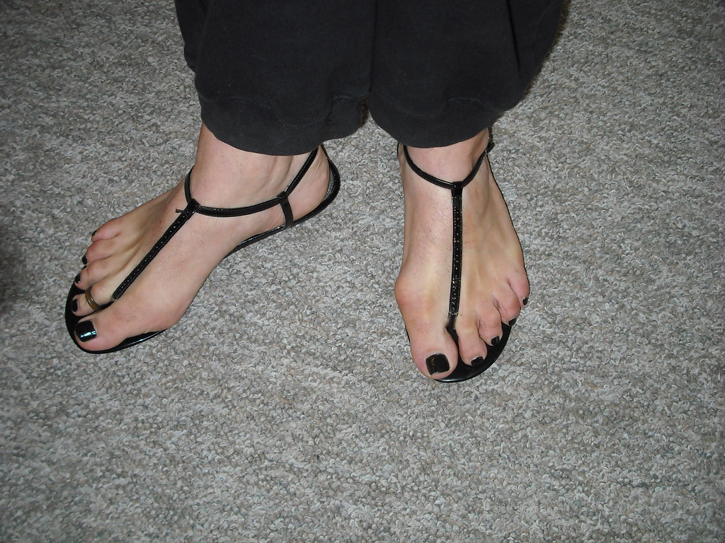 Sandals foot fetish on flickr