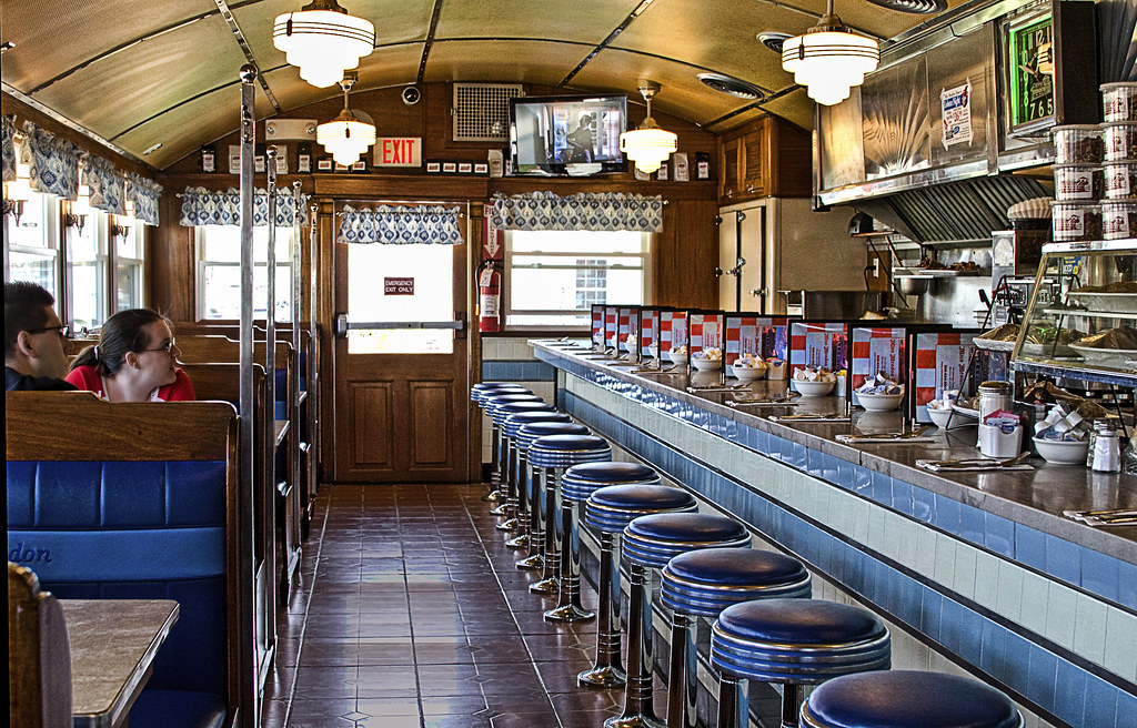Miss Mendon Diner interior | On Easter Sunday, just before ...