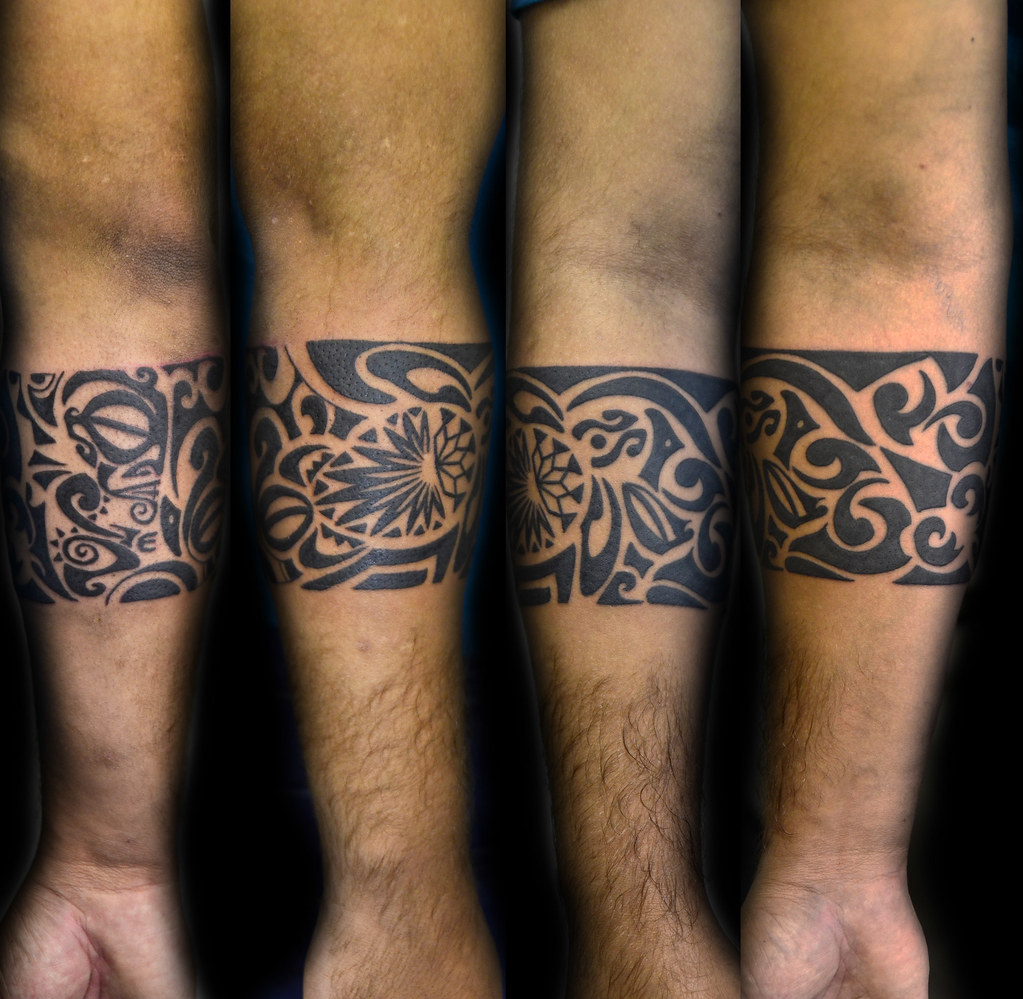 maori tattoo oberarm frau
