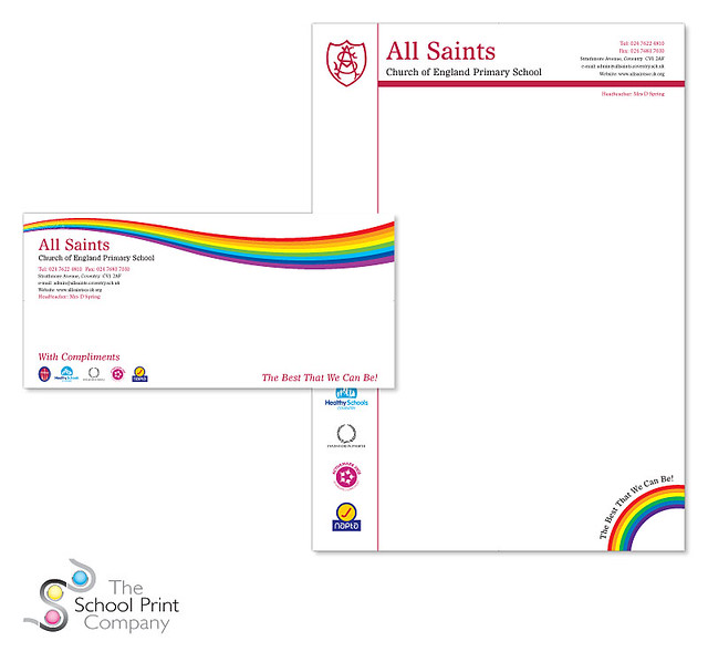 School Letterhead and compliment slip for All Saints C of … | Flickr
