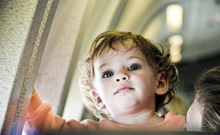baby on plane | by The Wedding Traveler