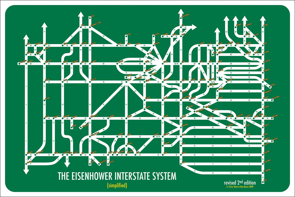 US Interstate Highway System Simplified X Rebrncom - Us map with interstate system