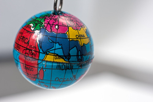 Old key chain in the shape of a small Earth globe | by Horia Varlan