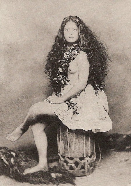 Young Hawaiian Girl -- 1890  This Photograph Of A Young -5636