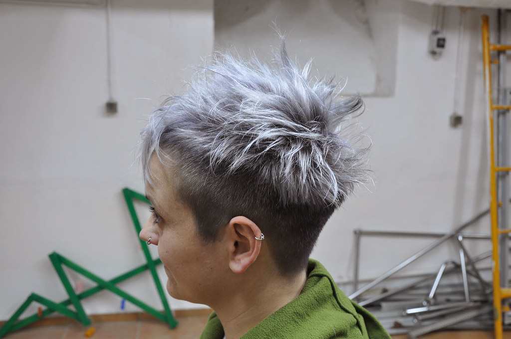 Silver Grey Hair Color Hair Cut By Sabine Hair Color By B Flickr