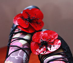 Poppy shoe leather clips | by Katarina Roccella