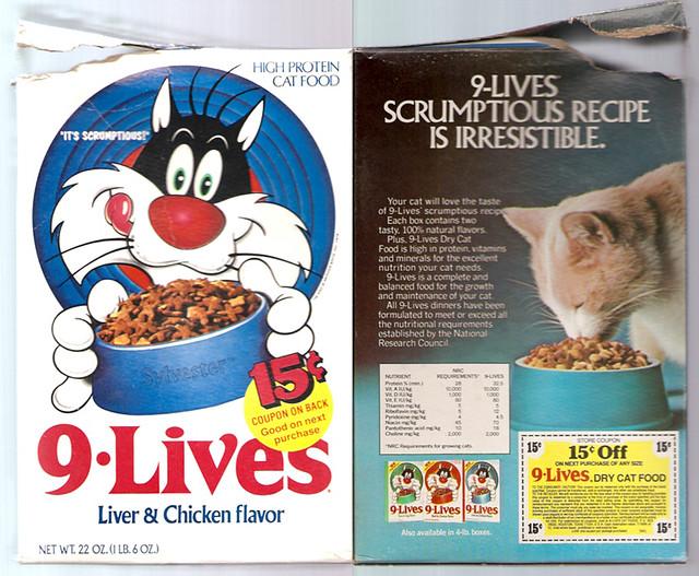 1978 Star Kist WB 9 Lives Cat Food Box Sylvester