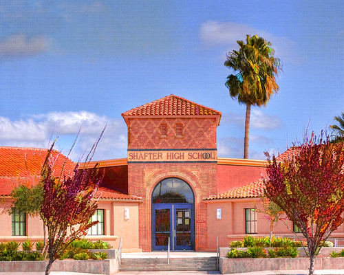 Shafter High School : I used a little bit of Topaz to give ...