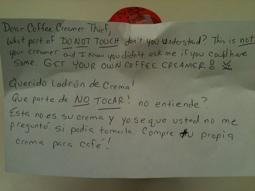 What part of DO NOT TOUCH don't you understand? | by passiveaggressivenotes