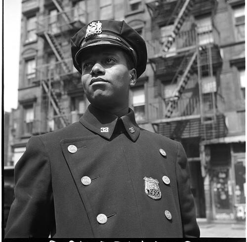 America S Police News: Officer In Blue, Harlem, 1943