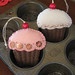 Embroidered Cupcake Ornaments