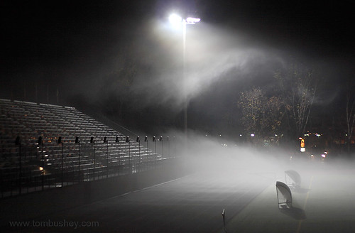 Foggy night at football field | Middletown, NY - Fog rolls ...