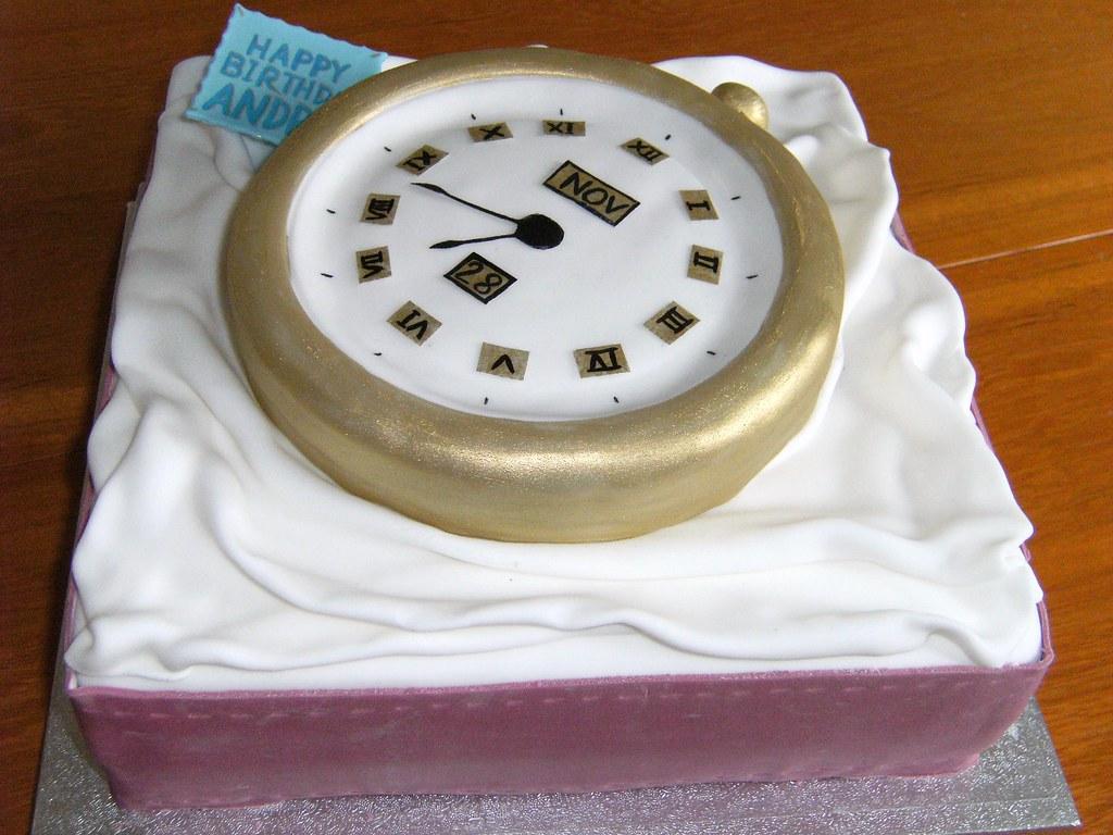 Pocket Watch Birthday Cake