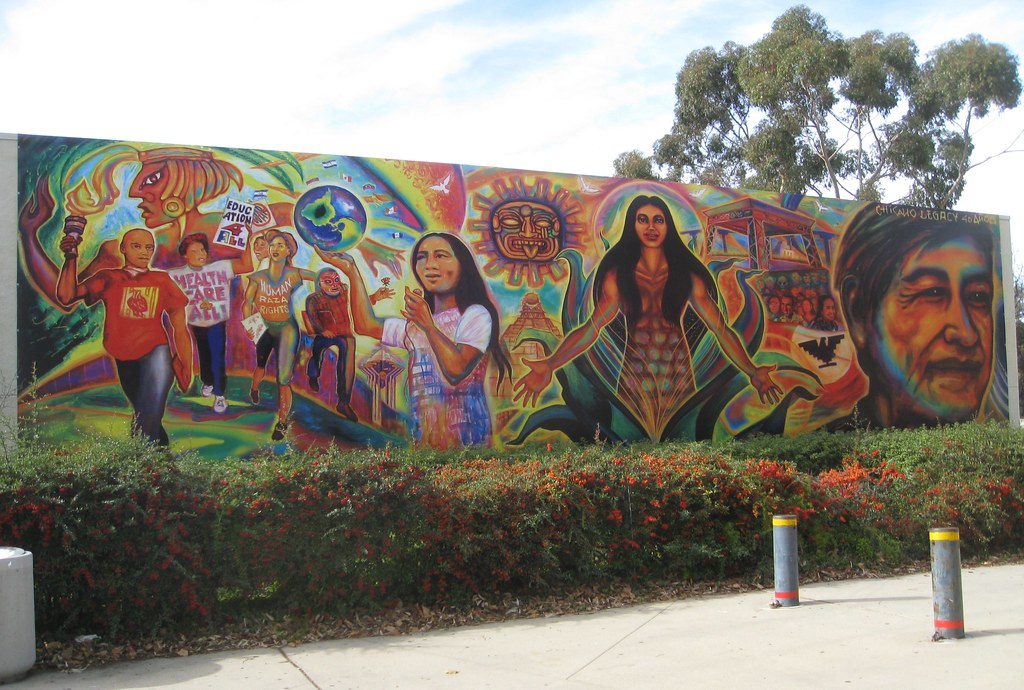 Chicano legacy mural by mario torero 2009 unveiled for Chicano mural art