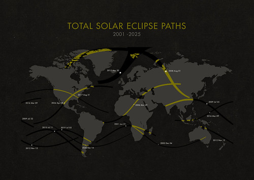 Total Solar Eclipse Paths | by Michæl Paukner