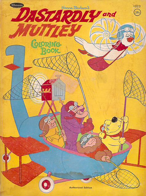 1970 Whitman Hanna-Barbera Dastardly Muttley Coloring Book…   Flickr