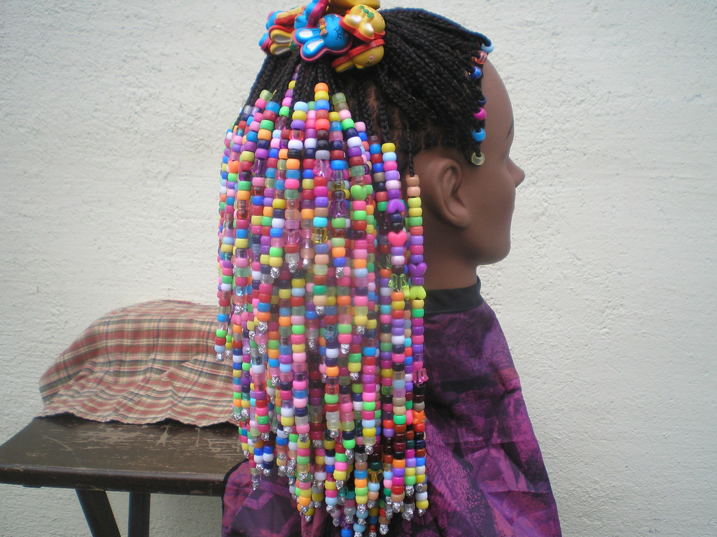 Hair Styles Braids With Beads: Braids And Beads Hairstyle, Right Side.