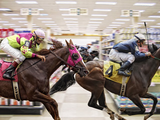 Shopping - Race to the Checkout | by David Blackwell.