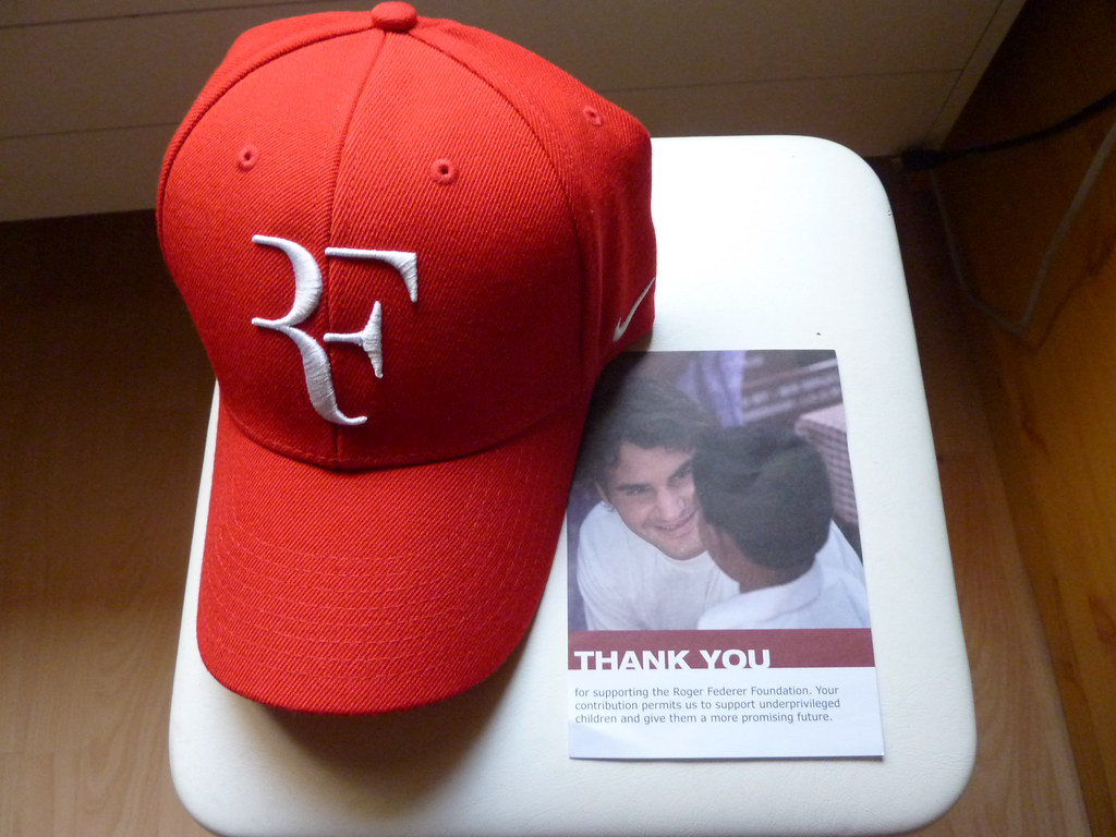 ... Roger Federer Foundation cap  3b7dd4c58e7