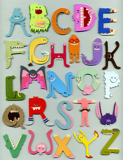monster alphabet it s like the we are the world of the mon flickr