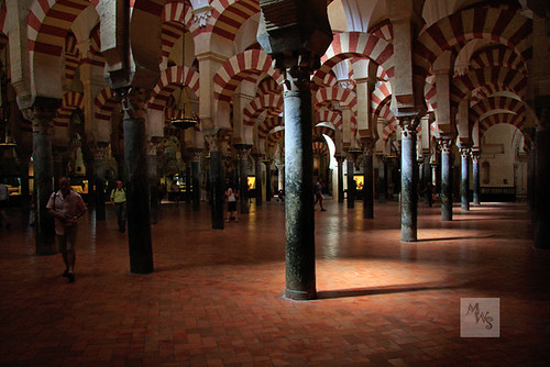 Mosque pillars and striped arches, Mezquita, Cordoba, Spain | by Mikey Stephens