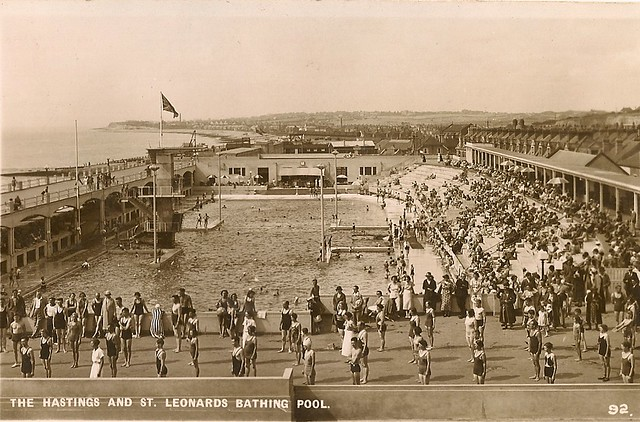 Hastings St Leonards Bathing Pool 1930s Many Past Times Flickr