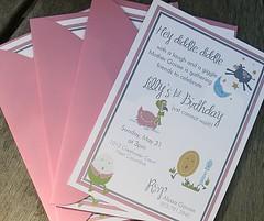 Nursery Rhyme Birthday Invitation