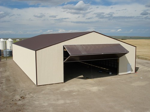 bi fold machine shed doors