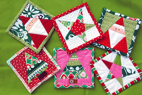 christmas coasters for mom! | by kellyink