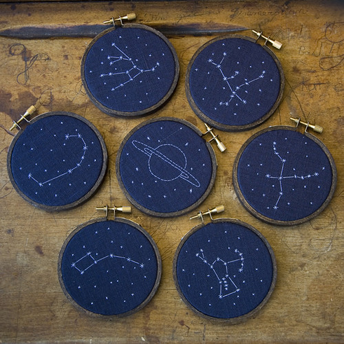 Starry stitches, constellation embroidery | by miniature.rhino