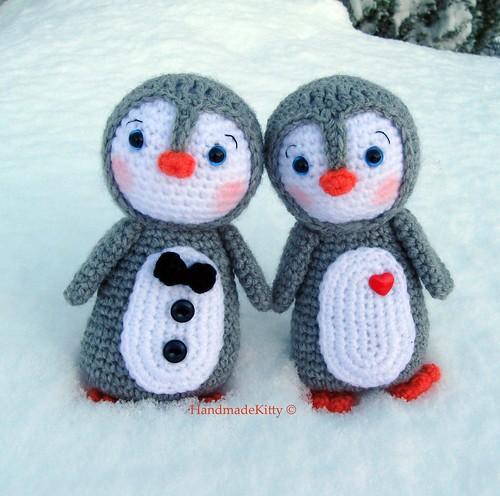 Amigurumi Penguin Crochet : Kawaii amigurumi penguin couple crochet pattern thank