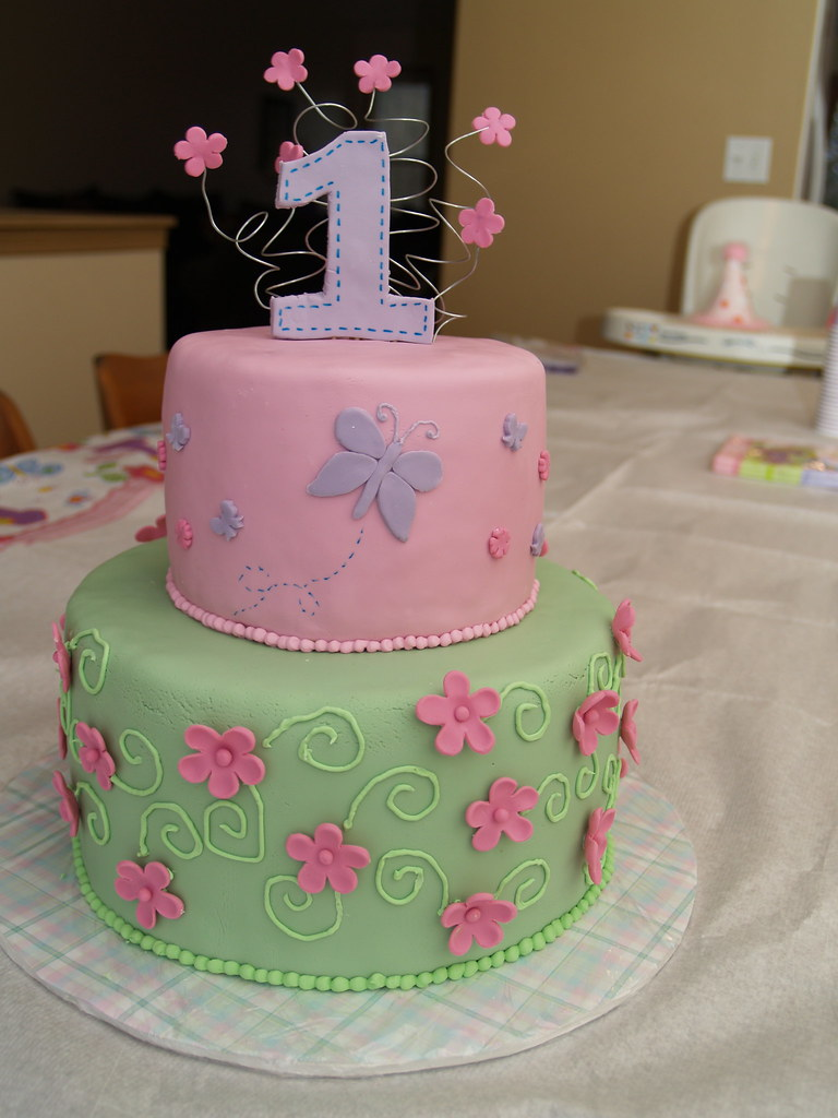 Pics Of Birthday Cakes For Baby Girl : Butterfly Birthday Cake For my baby girl s first ...
