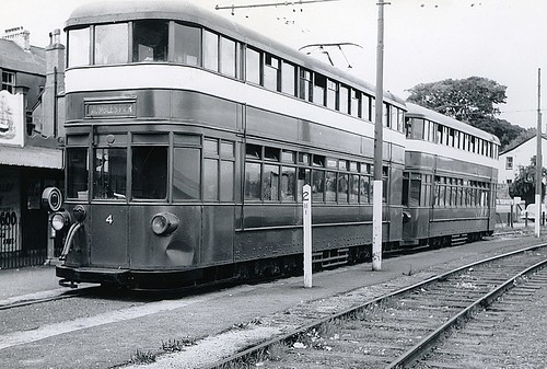 Mumbles Tram Blackpill Swansea 1959 By Norman Hurford