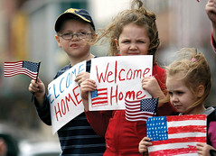 Children welcome Georgia National Guardsmen home from deployment to Afghanistan | by The National Guard