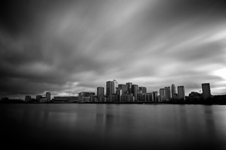 Canary Wharf from Greenland Dock, 30 seconds | by tubb