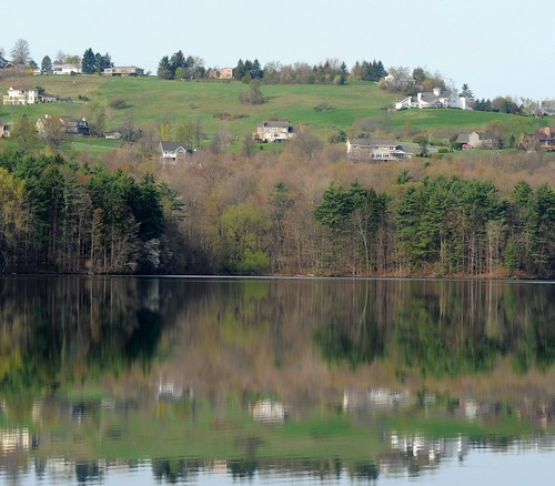 Reflection off the Tomhannock Reservoir, Pittstown, NY | by chuckthewriter