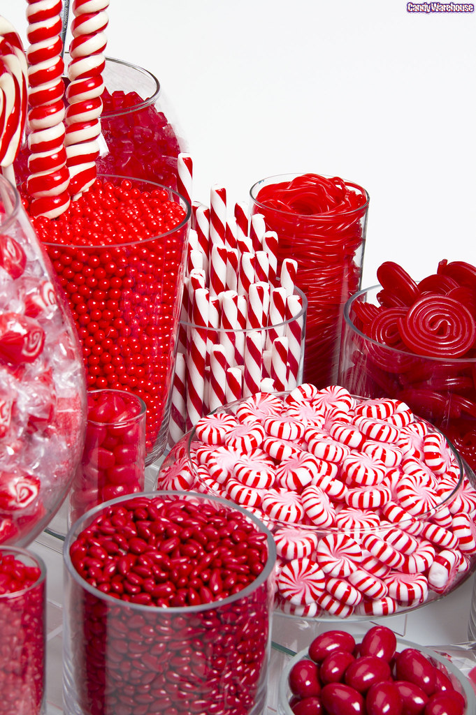 Red candy buffet an exquisite collection of