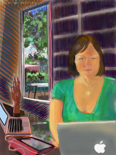 iPad Portrait of Janet Wozniak, Painted from Life Today | by DNSF David Newman