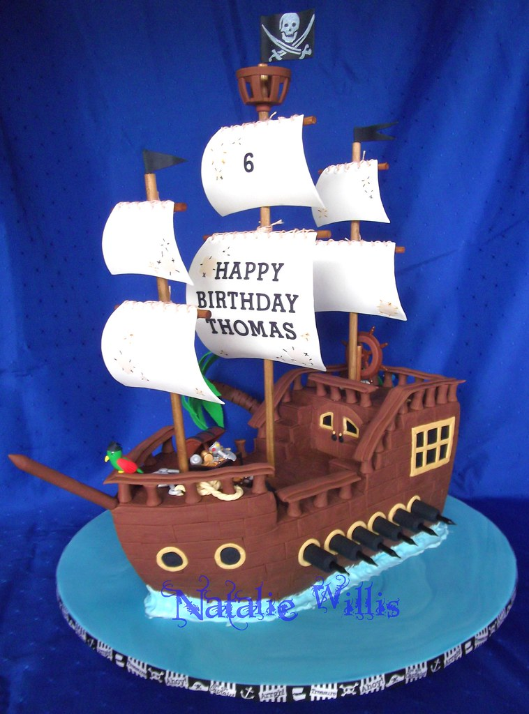 Captain Thomas Pirate Ship Cake I made this cake for Thom Flickr
