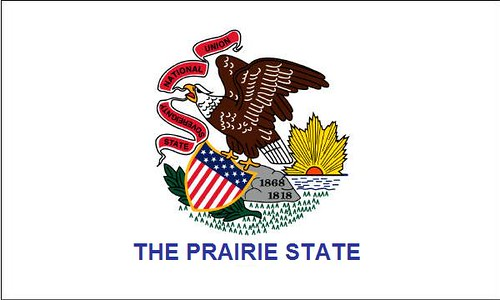 Illinois Flag The Illinois State Flag With The State S