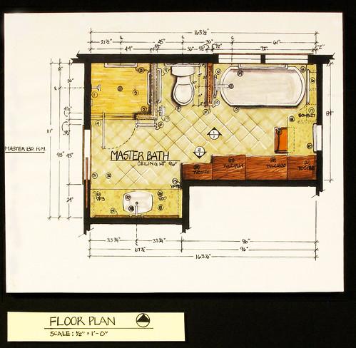 Kitchen Floor Plans And Elevations: Residential Bath Design-Floor Plan