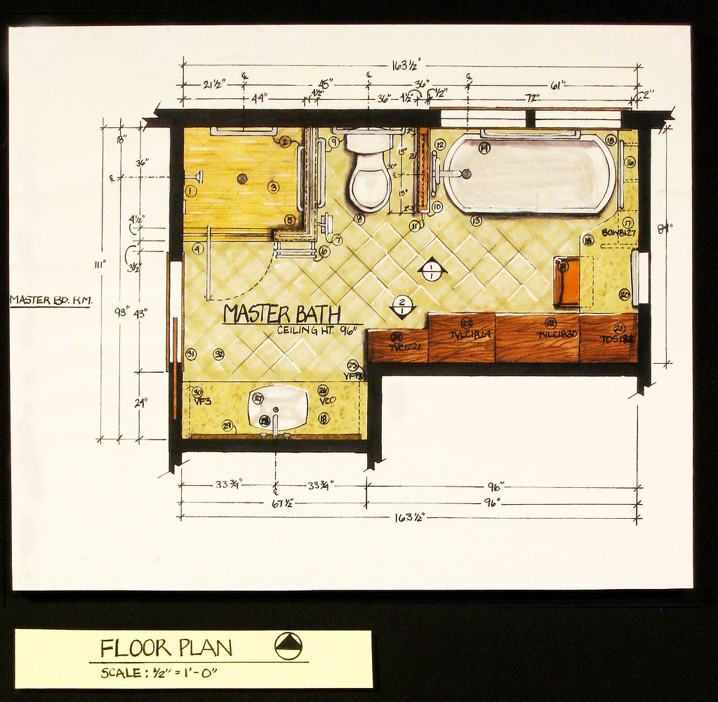 Residential Bath Design Floor Plan Intr 224 Residential